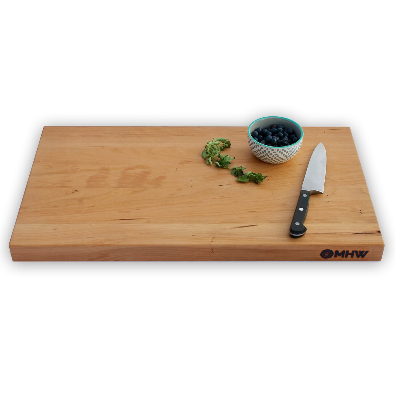 12x20 Cherry Wood Cutting Board - wFREE Board Butter!
