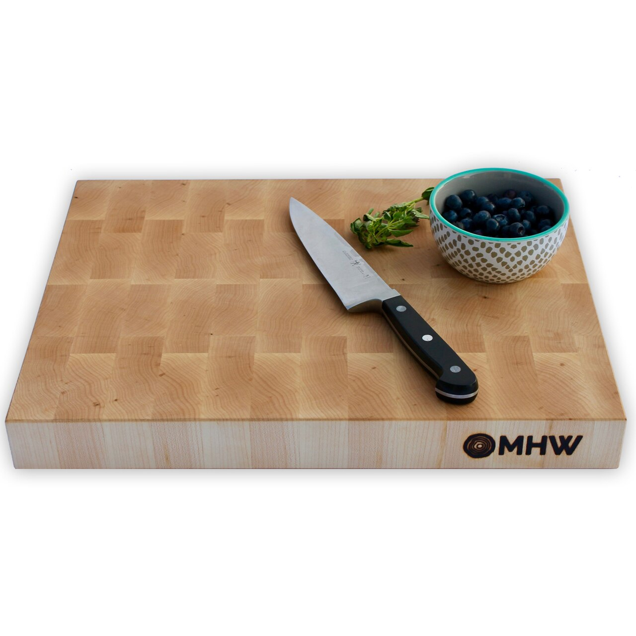 12x20 Maple End Grain Wood Butcher Block - wFREE Board Butter!