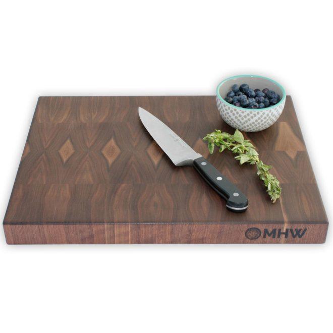 12x20x1.5 Thick Walnut Wood End Grain Butcher Block - wFREE Board Butter!