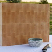 14x20 Maple End Grain Wood Butcher Block - wFREE Board Butter!