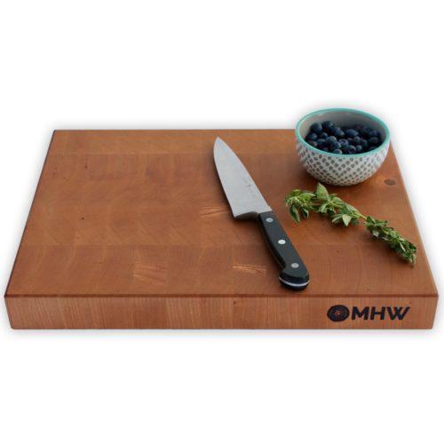 14x24 Cherry End Grain Wood Butcher Block - wFREE Board Butter!