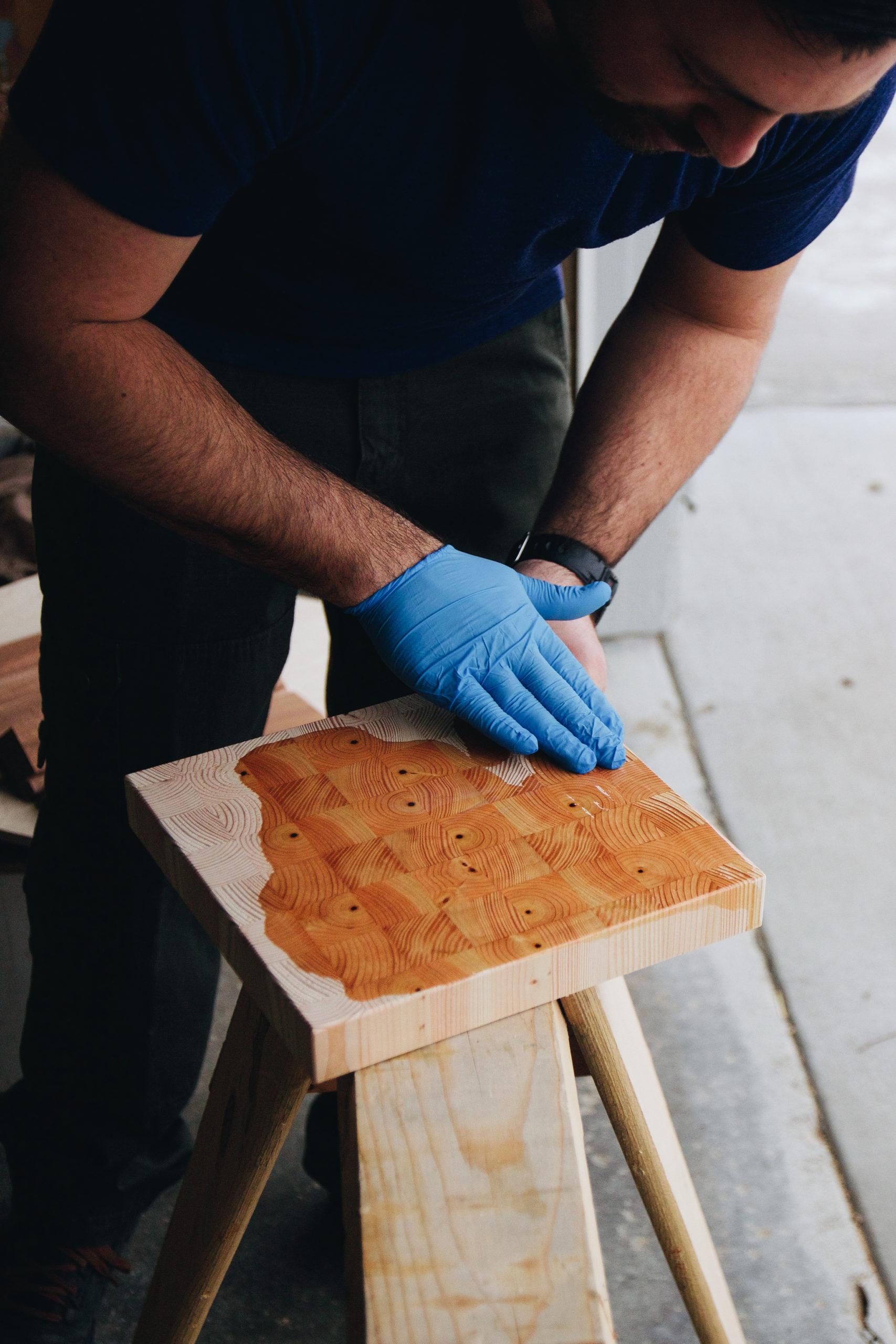 wood cutting butter